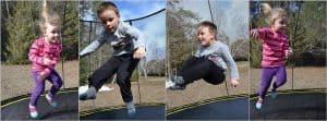 Kids jumping on Springfree