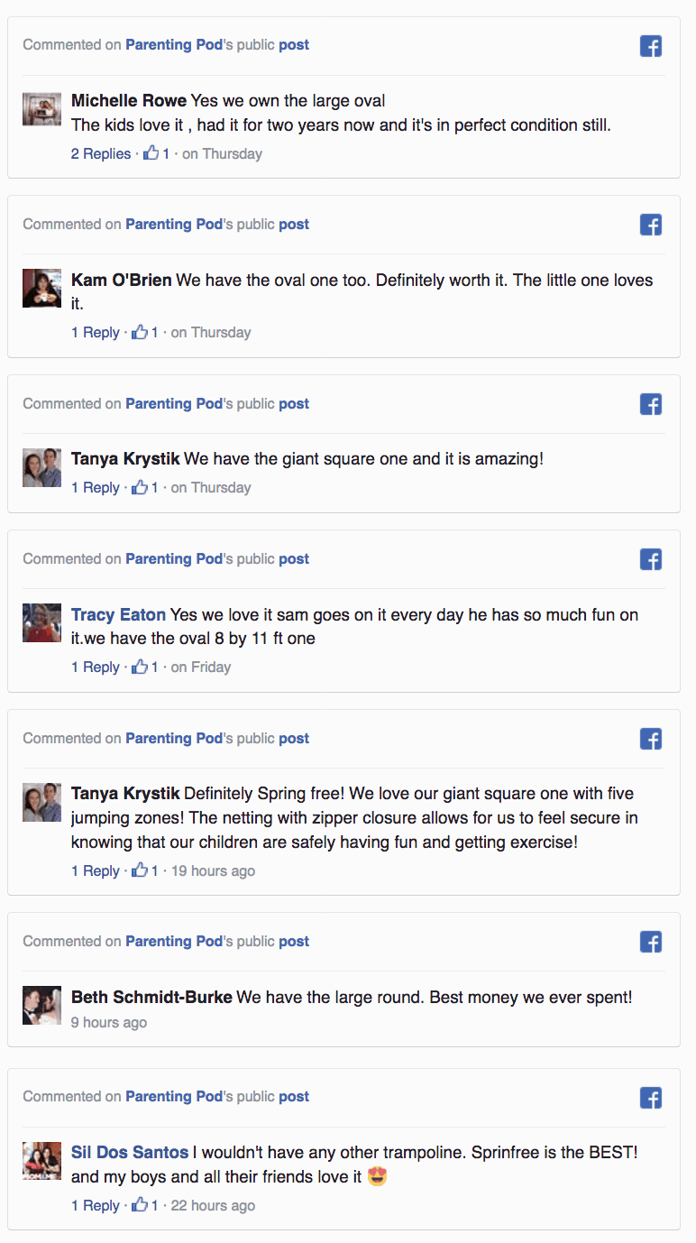 Springfree Facebook Comments