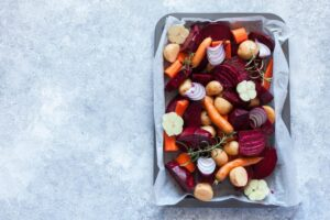 Balsamic Roasted Root Vegetables